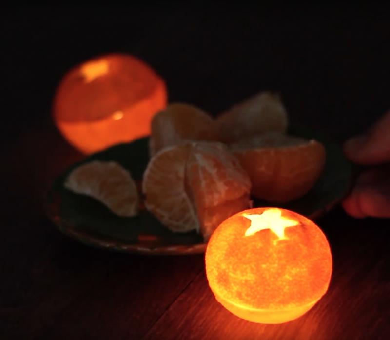 Ароматические мини-лампы из мандариновой кожуры