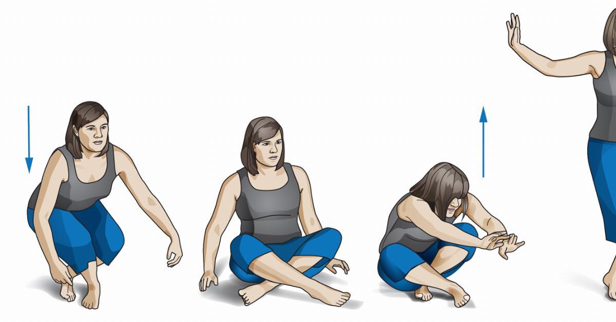 Тест на долголетие  несколько движений покажут, сколько осталось вашему телу . 1ecfb14a8b1