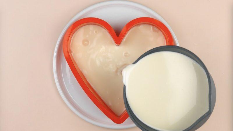 форма в виде сердца