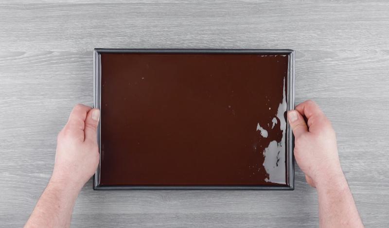 шоколад в форме для выпечки