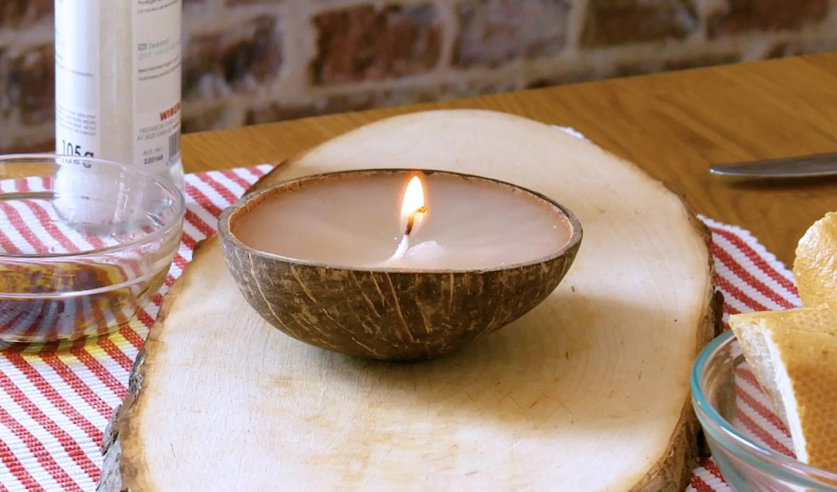 свеча из кокоса