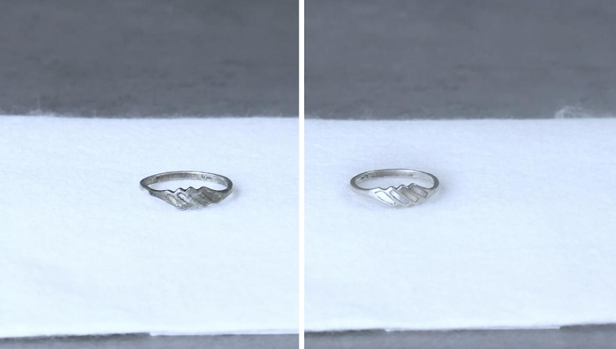кольцо лежит