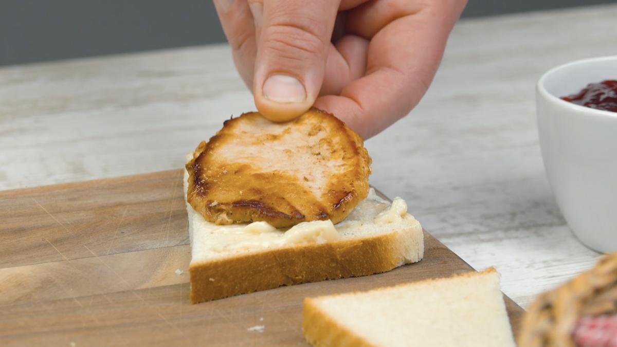 бутерброд с мясом