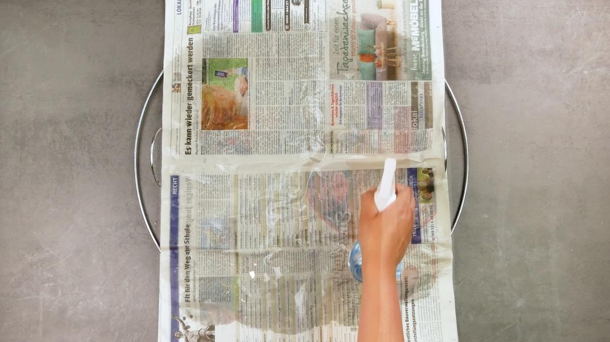 мокрая газета