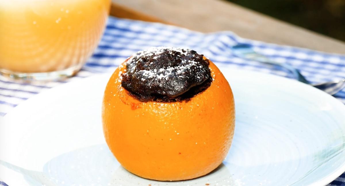 апельсин с шоколадом