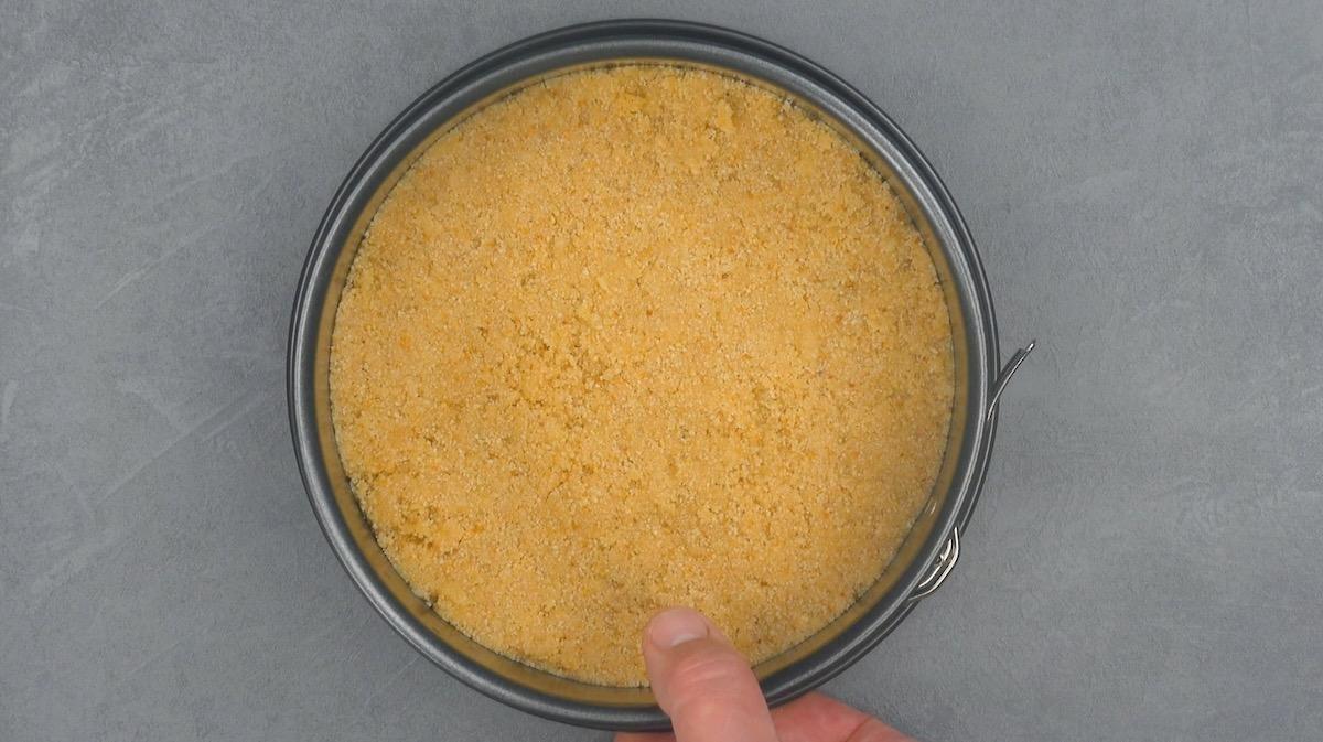 основа для пирога в форме для выпечки