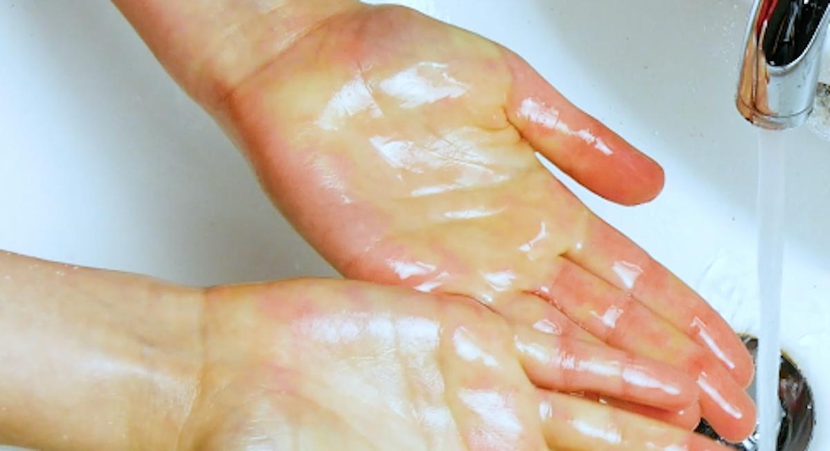 мокрые руки