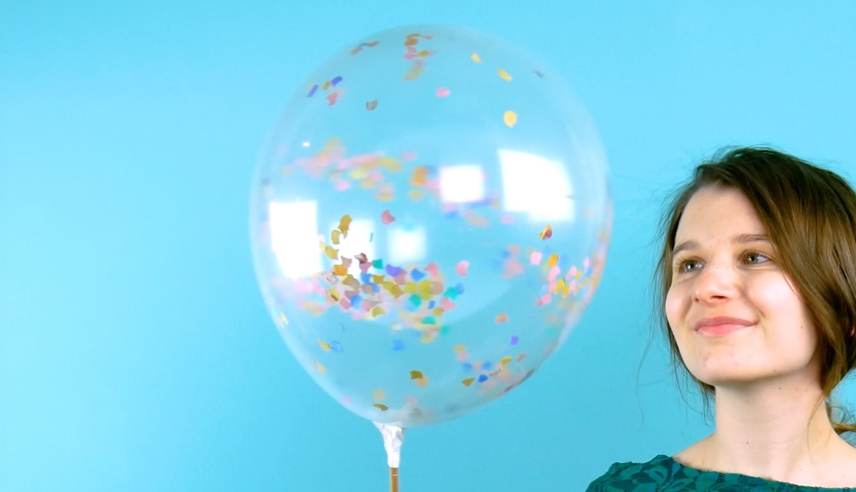 шарик с конфетти