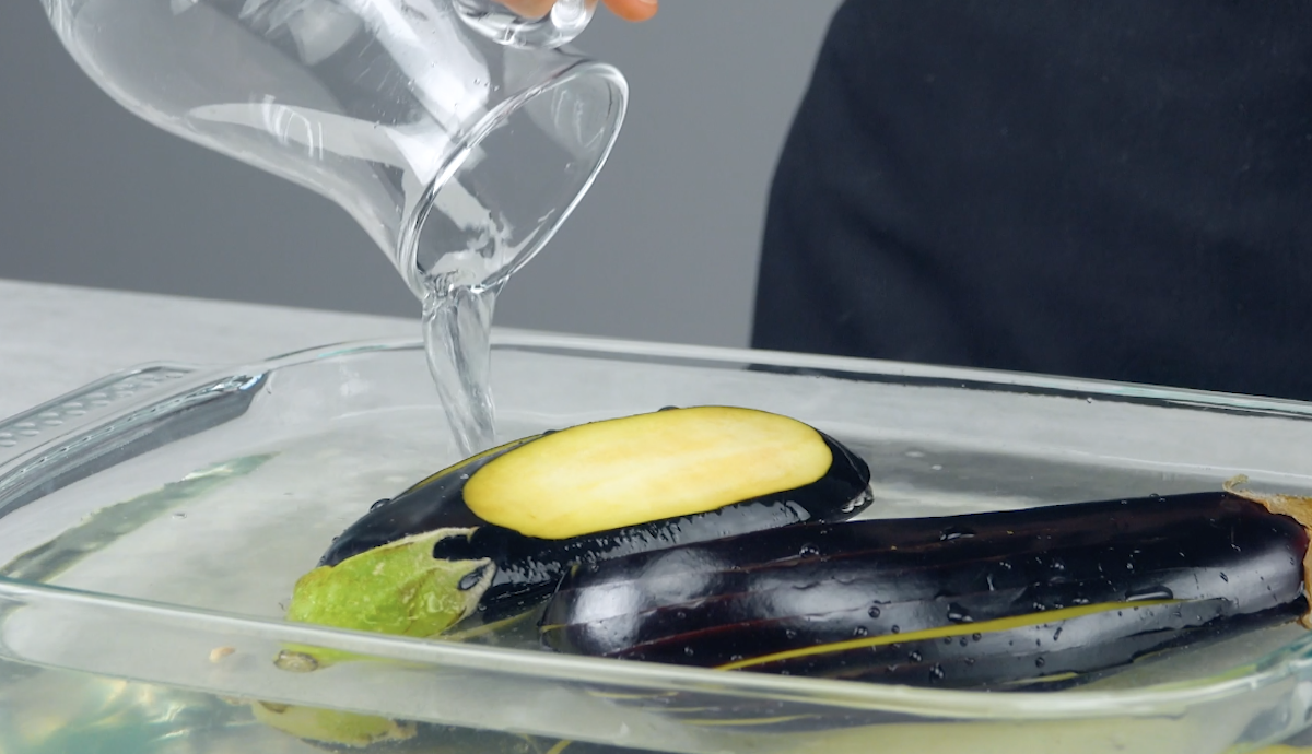 баклажаны в воде
