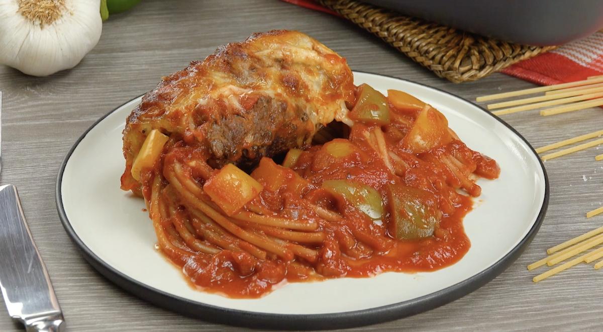 котлета и спагетти