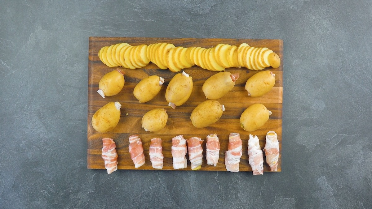 картофель и бекон