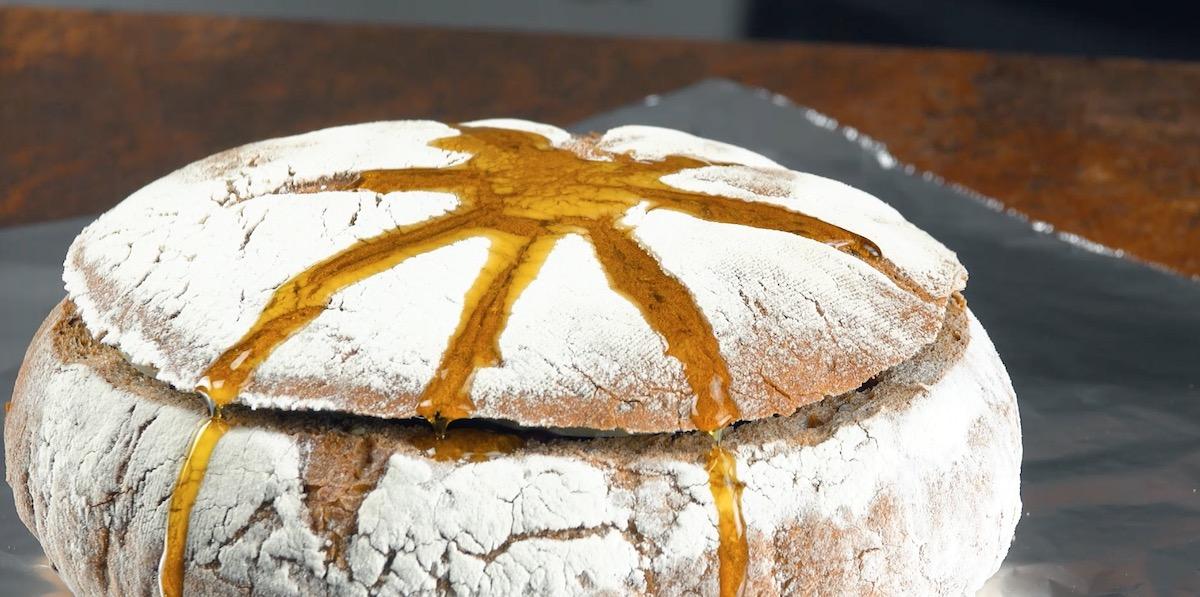 разрезанный хлеб