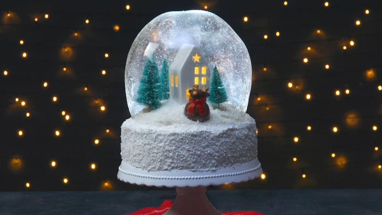 торт снежный шар