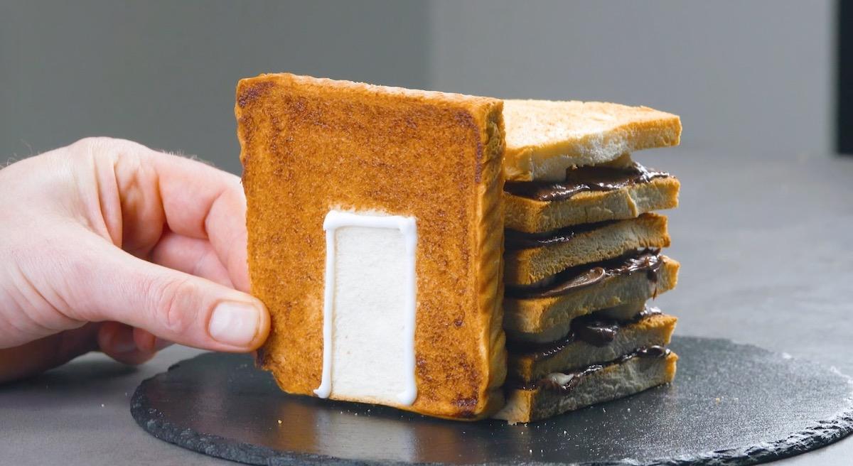 бутерброд с шоколадом