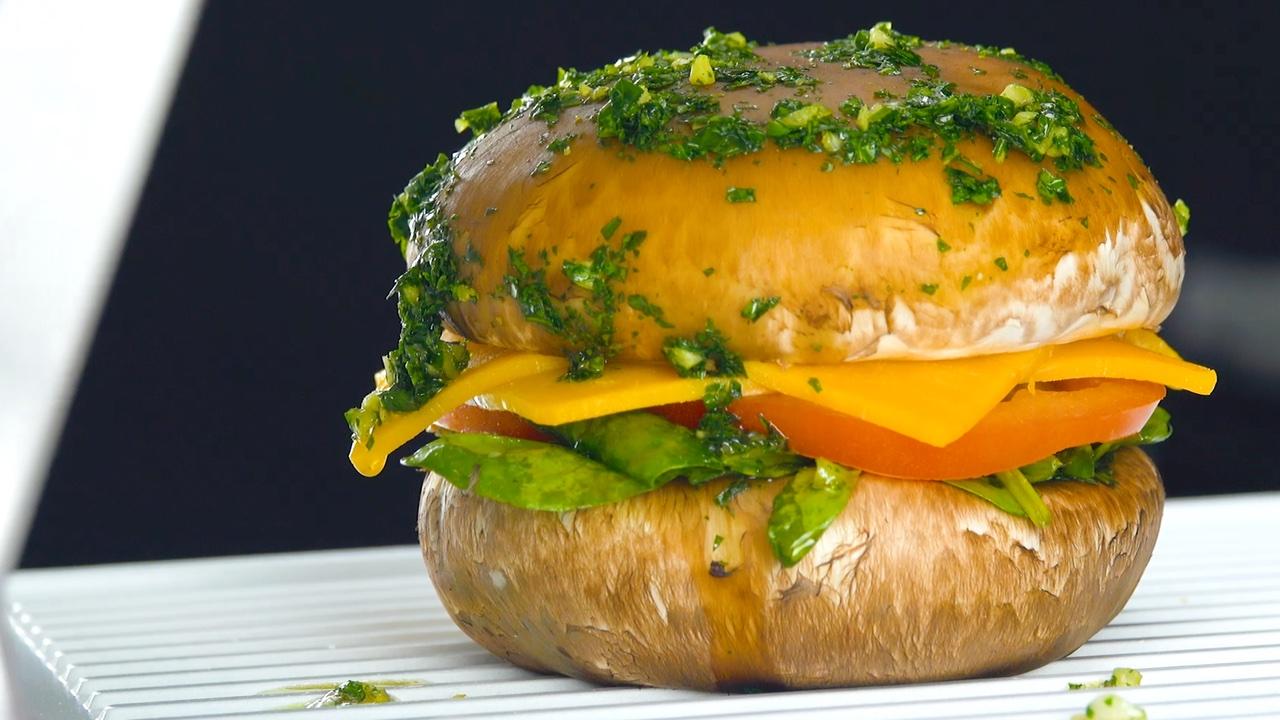 бургер из гриба
