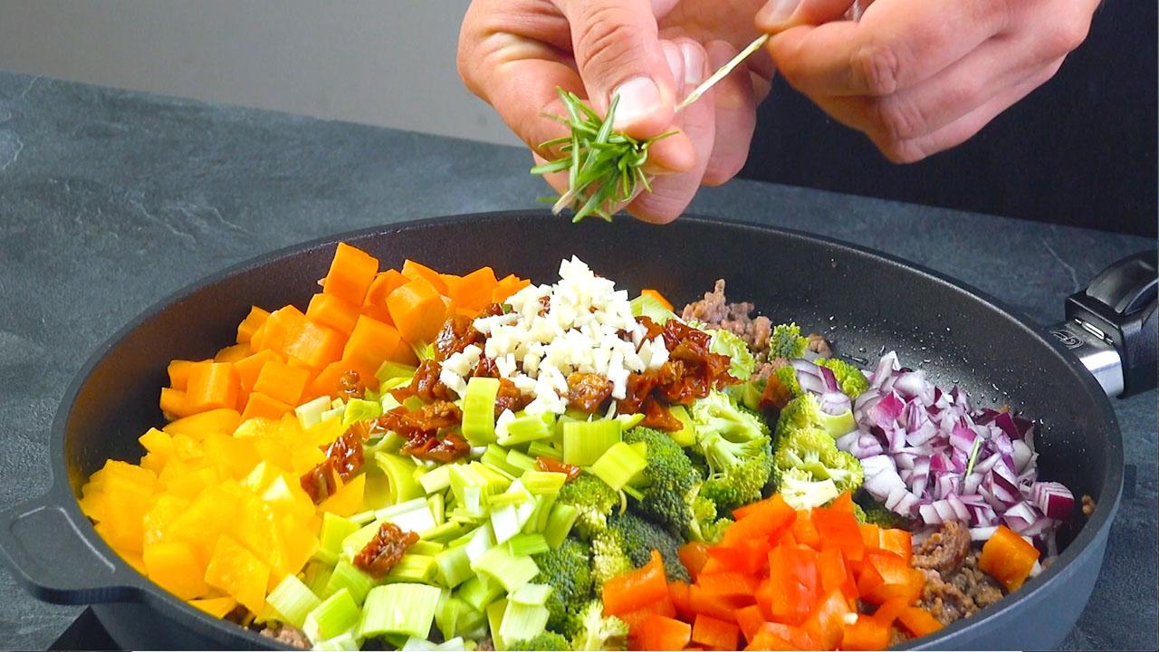 жарить овощи