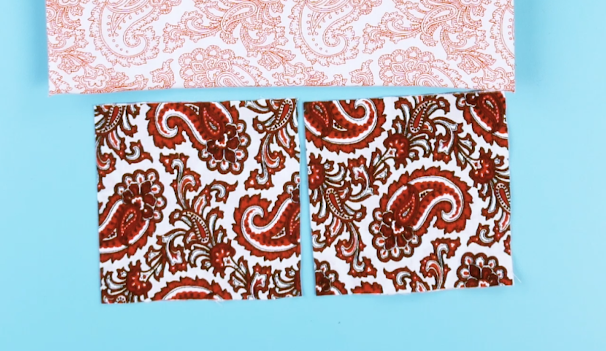 три куска ткани