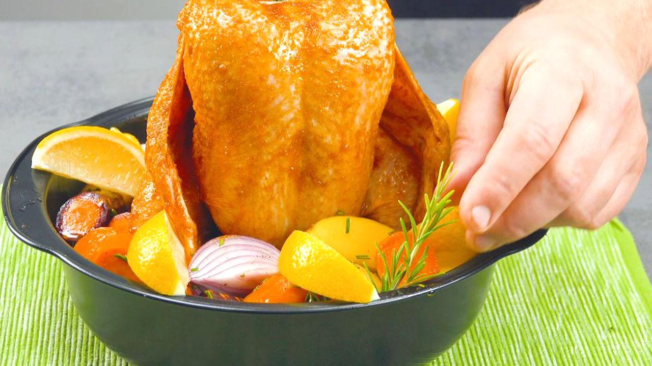 курица с овощами и розмарином