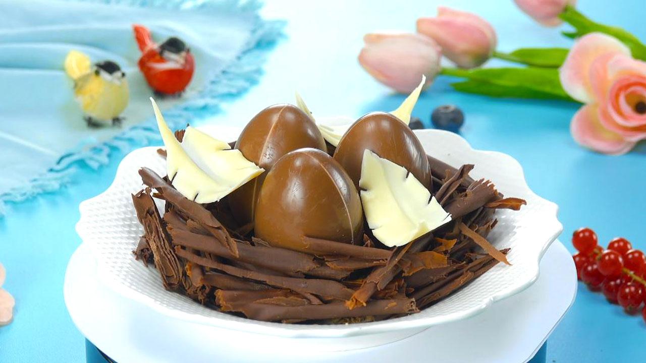 десерт в виде гнезда