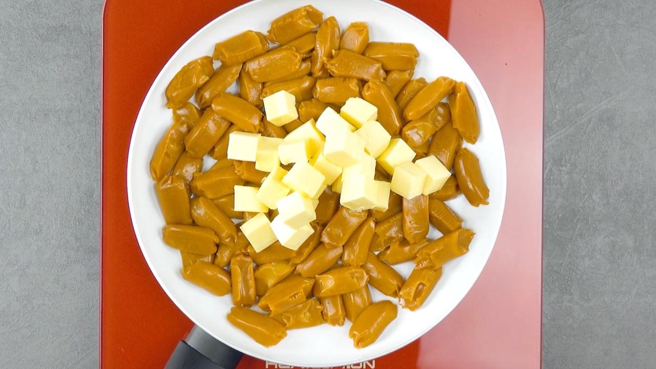конфеты на сковороде