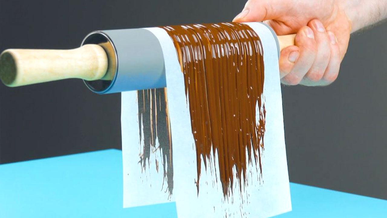 шоколад на бумаге