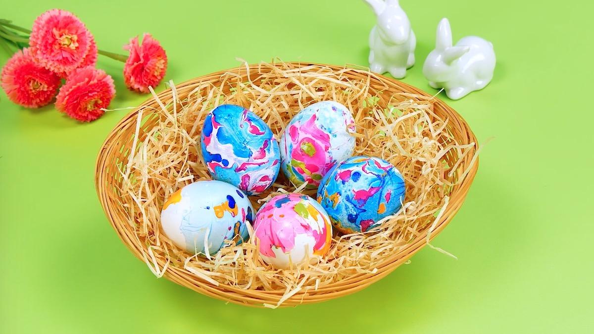 раскрашенные яйца