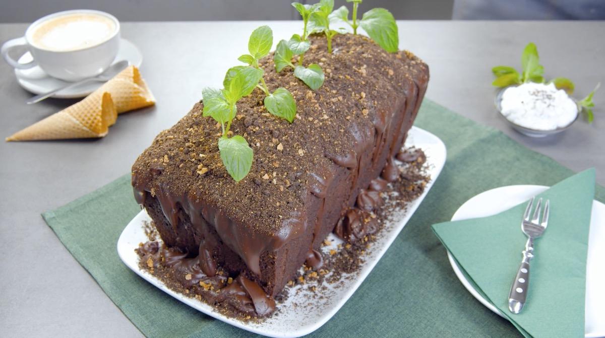 торт в виде грядки