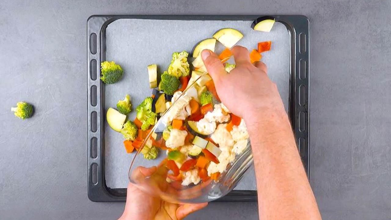 кусочки овощей