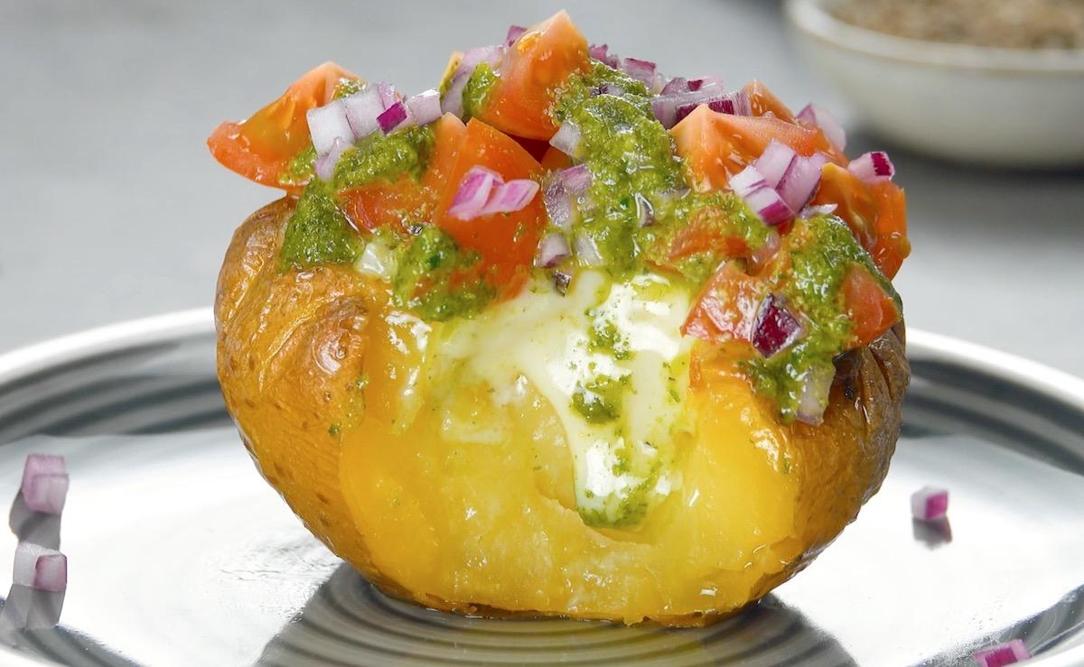 картофель и песто