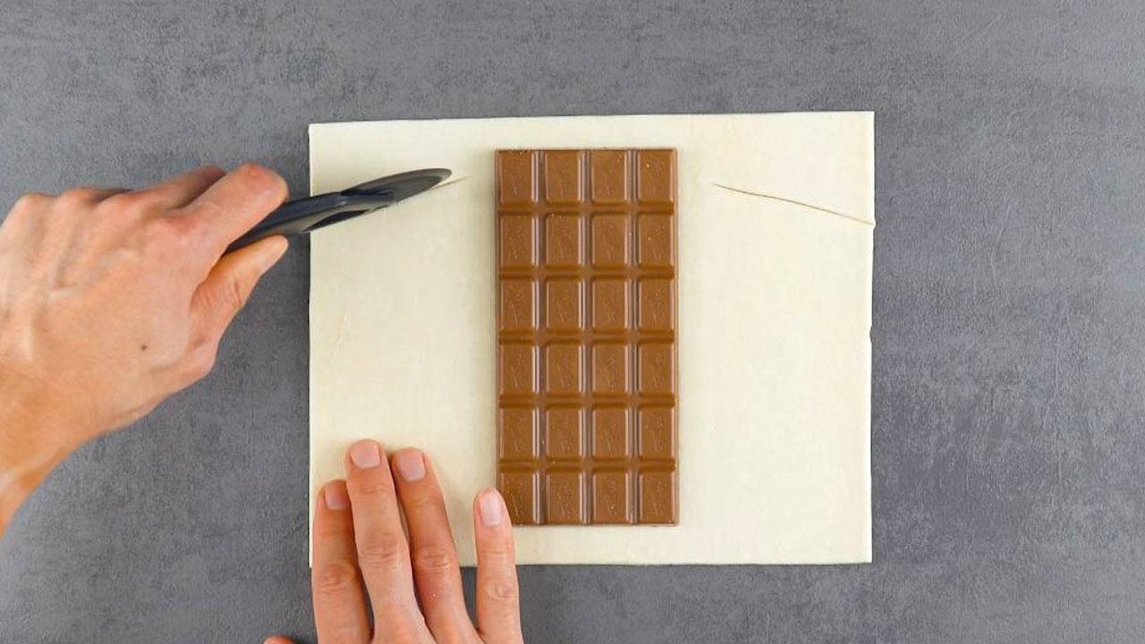 шоколад и тесто