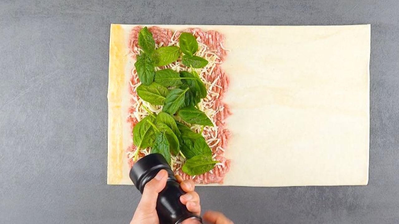 тесто и шпинат