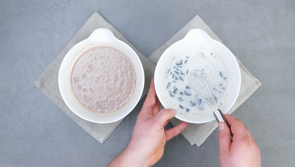 две порции крема