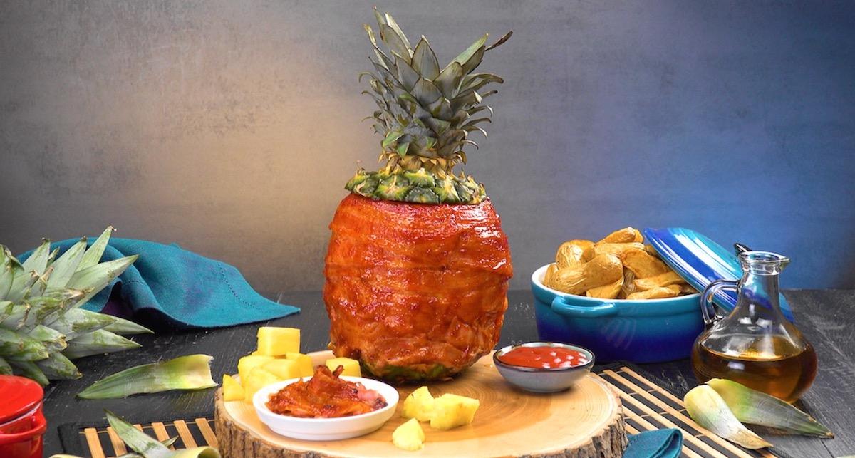 ананас с мясом
