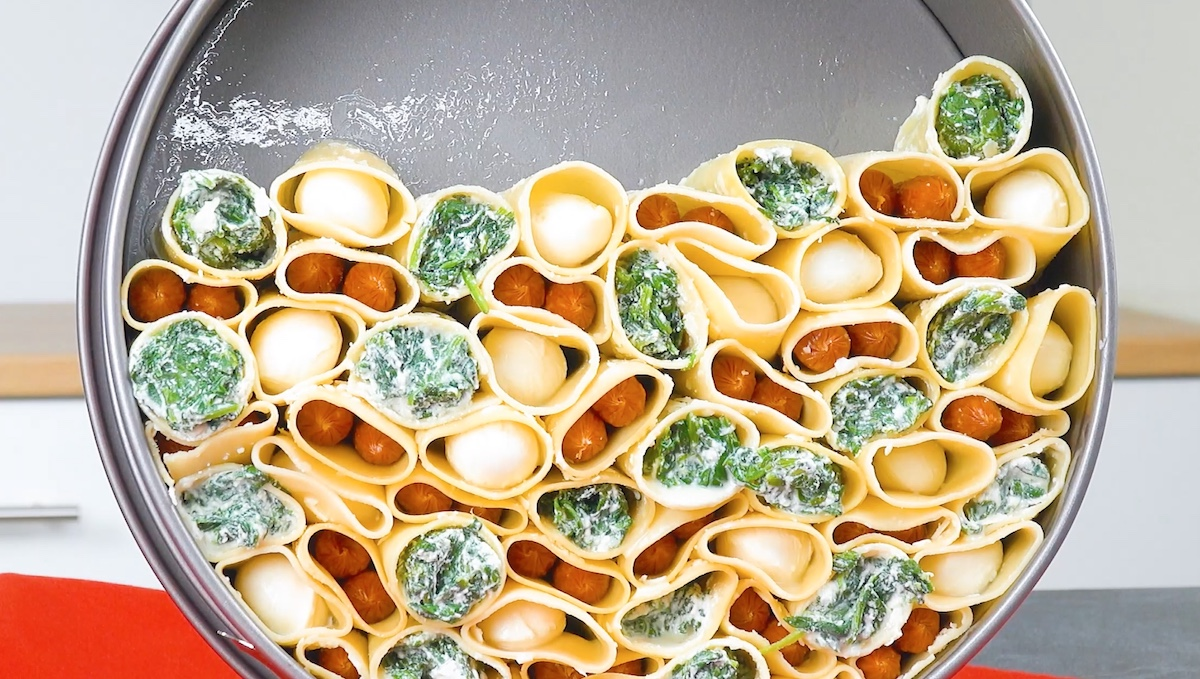 макароны в форме для выпечки